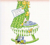 boy baby certificate Cradle counted cross stitch, DMC cotton thread , 14ct 27*37cm 90*140 stitch counted cross stitch kits