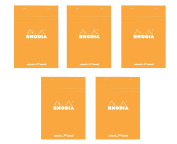 Pack of 5 Rhodia Orange Dot Pad 6X8.25