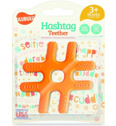 Ulubulu Hashtag Teether, Orange
