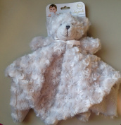 Blankets & Beyond Grey Rosette Bear Security Blanket