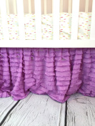 Lilac Purple Ruffle Crib Skirt Baby Bedding Nursery Baby Girl