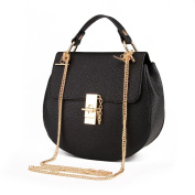 VINICIO Women's Classic Messenger Bag Fashionable Vintage Chain Metal Buckle Handbag