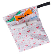 """Wet / Dry Bag for Cloth Nappies or Laundry """"Tribal Fox"""""""