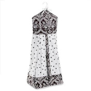 Seed Sprout - Damask Nappy Stacker, Black and White