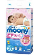 Japanese Soft Nappies - Nappies NEW Moony Air Fit, Irritation Free, for Extra Sensitive Skin, Leaks Free