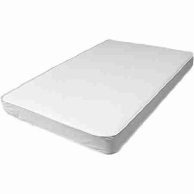 L.A. Baby 7.6cm Compact and Comfortable Crib Mattres, White