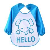 Fullkang Unisex Baby Cute Cartoon Translucent Plastic Soft Waterproof Bibs