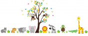 Animal Wall Stickers - Nursery Wall Decals - Children's Room Wall Decals - Reusable