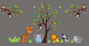 Jungle Themed Nursery Stickers - Removable and Reusable Wall Decals - Large