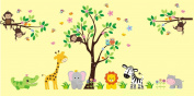 Girls Safari Decals - Nursery Wall Decals - Jungle Wall Stickers - Removable