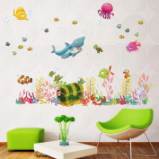 MaxS Decorative Peel Vinyl Wall Sticker Kids BaMX Rooms Nursery Removable Decals - The Deep Blue Sea