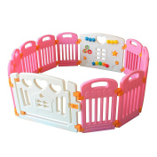 New Clevr Baby Pink Kids Safety Playpen 12 Panel Play Centre Boys Girls Unisex