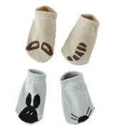 Baby Anti Slip Cotton Cute Feet Infants Socks[set of 2 pairs]