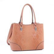 Diodotus Python Embossed Pattern Faux Leather Tote Shoulder Hand Bag