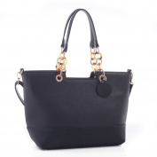 Lubanah Elegant Designer Inspired Faux Leather Tote Shoulder Handbag