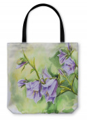 Tote Bag, Shoulder Tote, Hand Bag, Watercolour Painting Of The Bell Flowers