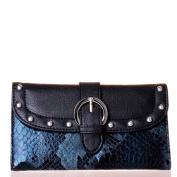 Fuchsia Snake-Embossed Wallet
