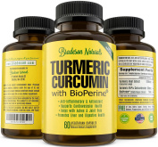 Turmeric Curcumin Supplement with Bioperine® (Black Pepper For Superior Absorption and Bio-availability). 100% All Natural Anti Inflammatory & Anti Oxidant. Non-GMO, Gluten Free, Made in the USA