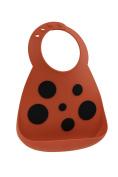 Make My Day Soft Silicone Baby Bib Red Ladybug