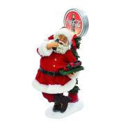Kurt Adler 36cm Santa with LED Light-Up Coke Sign