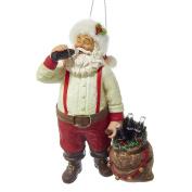 Kurt Adler CC9162 Santa Drinking Coke Ornament, 14cm