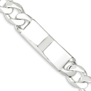 .925 Sterling Silver 14.00MM Curb Link ID Bracelet 8.50 Inches
