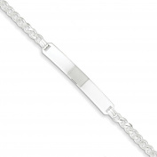 .925 Sterling Silver 3.00MM Curb Link ID Bracelet 7.00 Inches