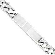 .925 Sterling Silver 9.00MM Figoro Link ID Bracelet 7.50 and 8.50 Inches