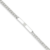 .925 Sterling Silver 4.00MM Curb Link ID Bracelet 7.00 and 8.00 Inches