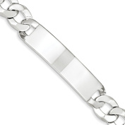 .925 Sterling Silver 12.50MM Curb Link ID Bracelet 7.50 and 8.50 Inches