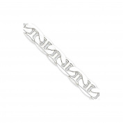 .925 Sterling Silver 9.5MM Anchor Link Bracelet 8 and 9 Inches
