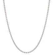 925 Sterling Silver Italian 1.5mm Magic Round Wheat Chain Crafted Necklace - Spring Ring Clasp