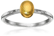 """""""Jordan"""" Sterling Silver Layered with 24k Gold Small Stackable Ring, Size 6.5"""