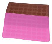 Dltsli 48 Capacity Silicone Macaron Macaroon Baking Mat Sheet DIY Mould - 2 pack