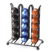 Lily's Home Counter Top Nespresso Coffee Capsules Holder. Holds 30 Nespresso Pods (Coffee pods are not included). Black