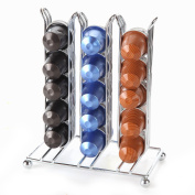 Lily's Home Counter Top Nespresso Coffee Capsules Holder. Holds 30 Nespresso Pods (Coffee pods are not included). Chrome