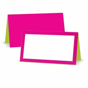 Fuchsia and Lime Place Cards - Tent Style