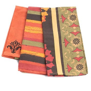 Factory Direct Craft® Trio of 3 Durable Tuscan Harvest Collection of Kitchen TeaTowels for Displaying, Everyday and Gifting