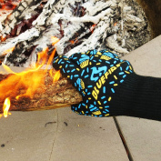 BlueFire Oven Mitts, BBQ Gloves for WOMEN-Great for Kitchen, Grill, Big Green Egg & Fireplace Accessories. Cut Resistant, Forearm Protection -100% Kevlar 932°F Heat Resistance. Gift for Mom or Wife