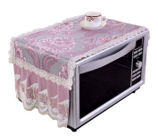 . Microwave Oven Dust Cover Dustproof Cloths Purple