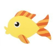 9189-67 Simple Shape Layered Fish Wood Cutout pkg/12