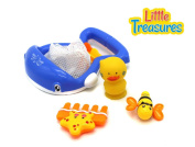 BLUE WHALE SCOOP NET Bathtub bath toy set . plus babies
