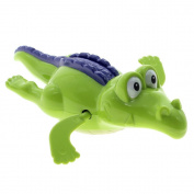 unisex baby Bathroom toy Swim Crocodile Wound-up Chain Clockwork Gift