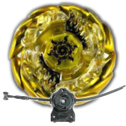Beyblade Sol Blaze Solar Sun God Gold With LL2 Launcher and Rip Cord Shipped and Sold From US