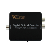 Optical SPDIF Toslink/ Coaxial Digital to Analogue Audio Decoder Converter with PCM, 5.1 Dolby Digital & DTS Support