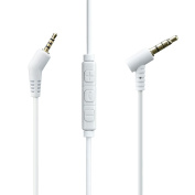 Bose QuietComfort 3, QC3 Headphones Replacement Cable with Mic / Audio Cord with Volume Control and Microphone, Works With iPhone, for for for for for for for for for for Samsung , iOS, Android, Windows Phone