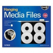 Hanging CD/DVD Pages ,w/ Insert Tabs, Top Load, 15/PK, Black, Sold as 1 Package
