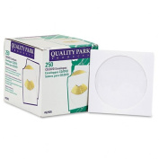 Quality Park Products - Quality Park - CD/DVD Sleeves, 250/Box - Sold As 1 Box - Sturdy sleeves. - Clear poly window. - Protects from static and debris.