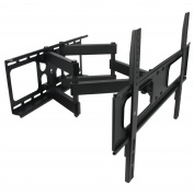 MegaMounts Full Motion Double Articulating Wall Mount for 32-180cm Displays