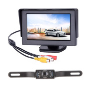 NIVISI Backup Camera and Monitor Kit For Car,Universal Waterproof Rear-view Licence Plate Car Rear Backup Camera + 4.3 LCD Rear View Monitor